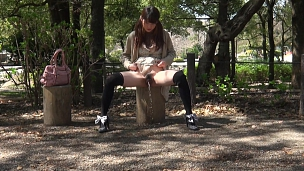 Peeing And Touching In Public Makes Them Very Horny - Scene 9