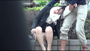 Asian Chicks Peeing In The Park - Scene 2