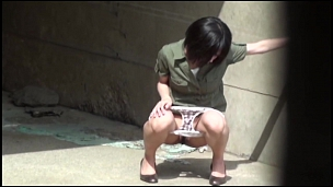 Attractive Asian Honeys Caught Pissing In Public - Scene 1