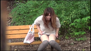 Attractive Asian Honeys Caught Pissing In Public - Scene 6